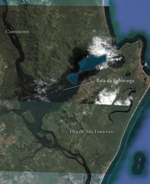 Baía da Babitonga ao norte do Estado - Imagem: Google Earth