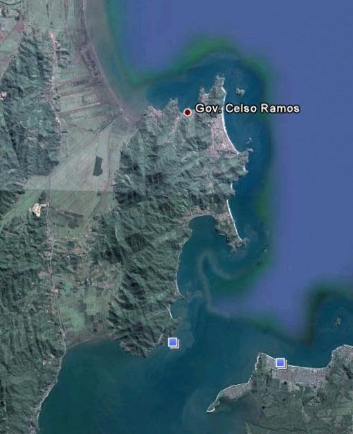 Gov. Celso Ramos - SC - Imagem: Google Earth