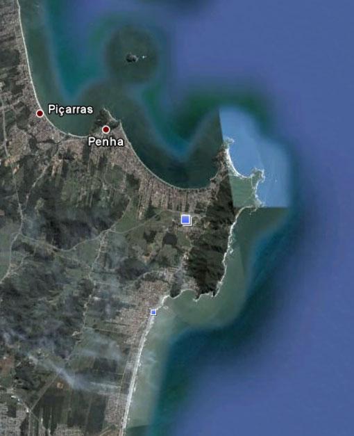 Penha - SC - Imagem: Google Earth