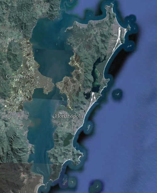 Ilha de Santa Catarina - Imagem: Google Earth