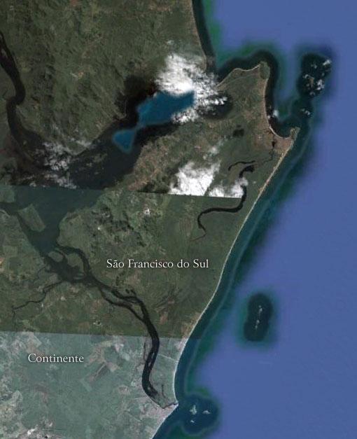 Ilha de São Francisco - Imagem: Google Earth