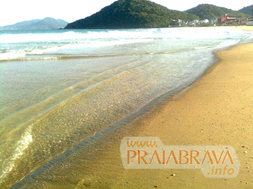 Piscina natural na Praia Brava